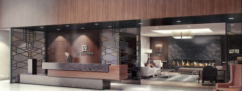 craftsman condo lobby