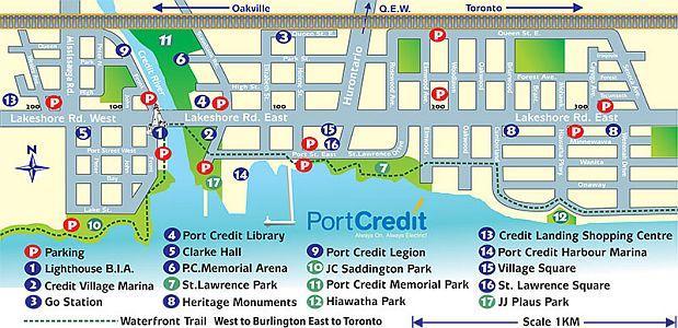 Port Credit Area Map