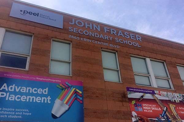John Fraser SS Public School - Top Mississauga School